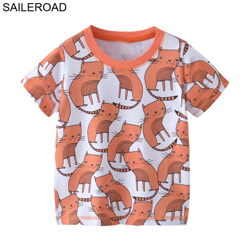 Good Saileroad 2-7years Animal Panda Boys Tops Tees T Shirt Cotton Children Kids Short Sleeve Shirts Summer Toddler Boys Clothing Lights & Lighting