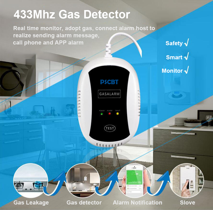 PSCBT Gas Leakage Detector Analyzer Combustible Gas Leak Location Determine Tester Sound-light Independent Alarm