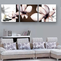 art Prints painting Transparent flowers Home Decorative Art Picture framed wall art SOL 044F Size:40x120cm