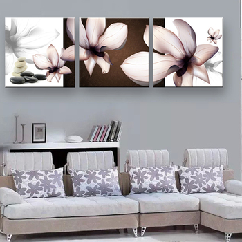 art Prints painting Transparent flowers Home Decorative Art Picture framed wall art SOL-044F Size:40x120cm