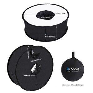 Image 4 - PULUZ 45 cm Ring Softbox Blitzgerät Runde Stil Flash Licht Schießen Weiche box Faltbare Weiche Flash Licht Diffusor
