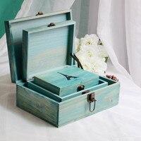 Zakka kruidenier fabrikanten hot verkoop houten doos vintage oude toren lock box tafel woondecoratie accessoires