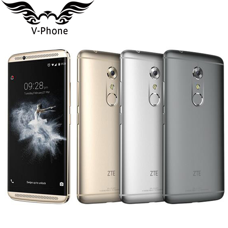 "New ZTE Axon 7 A2017 4G LTE Mobile Phone 6GB RAM 128GB ROM Snapdragon 820 Quad Core 2.15GHz 5.5"" 20MP Fingerprint Smartphone"