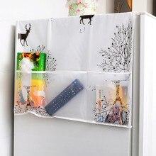 PEVA пылезащитный чехол для холодильника с карманом, сумка для хранения стиральной машины, органайзер, сумки, висячие Сумки, кухонные принадлежности
