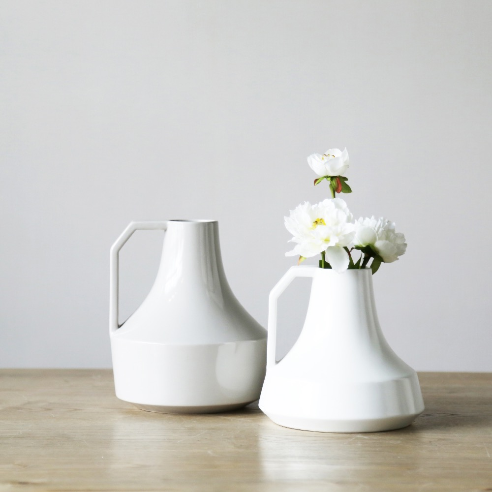 Kettle Shape Vases Fashion Modern Style Ceramic Tabletop Flower Wedding Decorative Vase Home Christmas Decoration Accessories