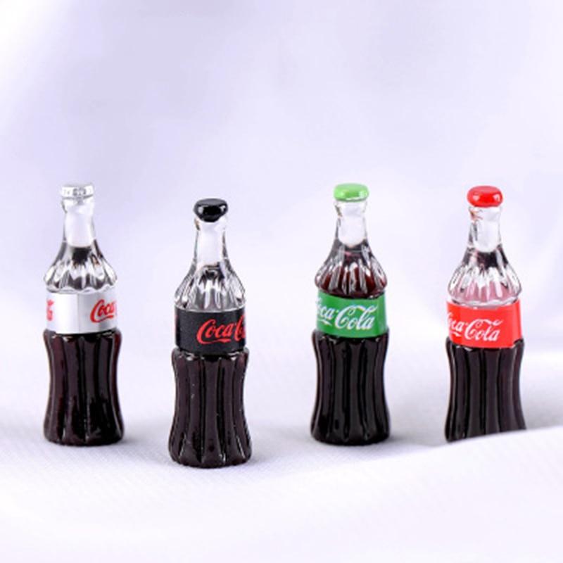 ZOCDOU, 1 unidad, botella de Coca Cola, himuto, nevera, agua, KFC, pequeña estatua de Estados Unidos, manualidades, escritorio, ornamento, miniaturas, juguete DIY