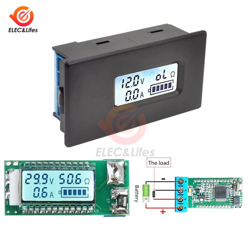 2.8-30V 10A Digital Voltmeter Voltage Tester Monitor Universal LCD Backlight 18650 Li-ion Lithium Battery Capacity Indicator
