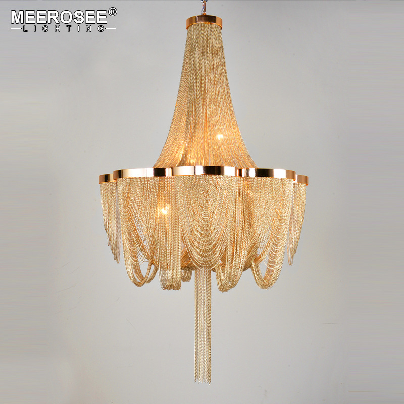 Franču impērijas lustra pasta ķēdes alumīnija balstiekārtas gaismas piekaramās paliktnis dzīvojamā istabā Hotel Project Lights