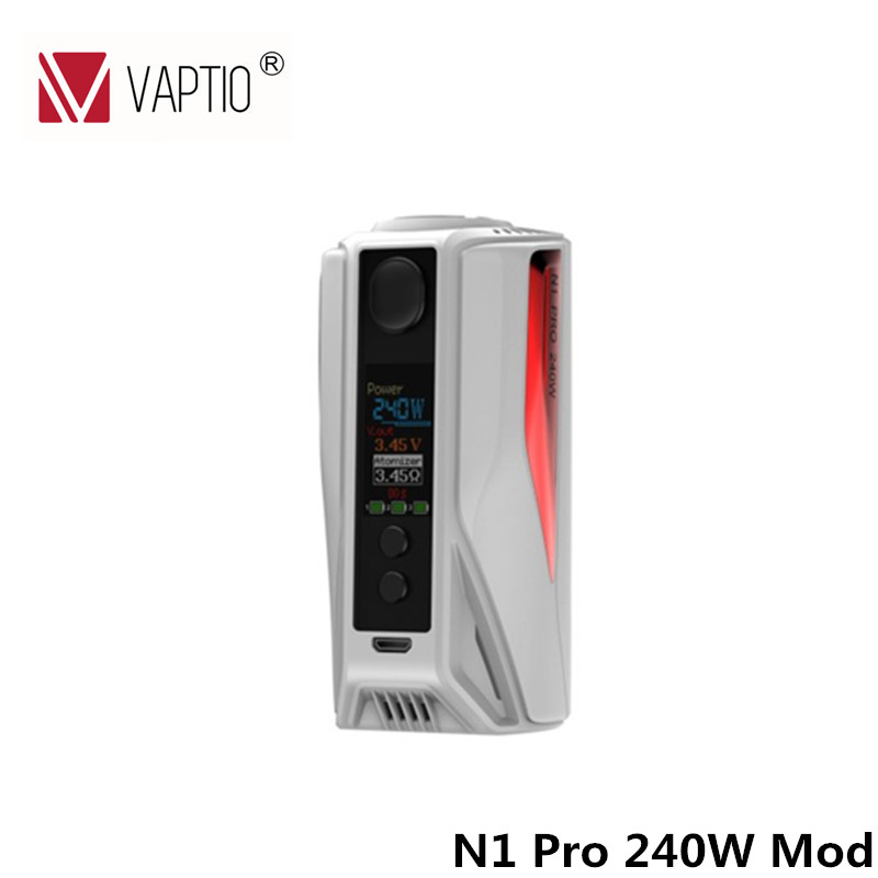 100% Original Electronic Cigarette Vaptio N1 Pro 240W TC Box MOD Temper Control Vaping MOD Support VW TC modes NO 18650 Battery fusion 2 box vape 2017 vivakita vaping electronic cigarette fusion ii electronic kits with mechanical mod best selling