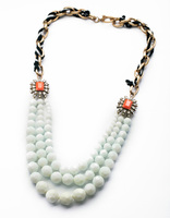 Xl01072 European And American Fashion Accessories Long Chains White Football Balls Necklace