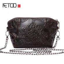 Женские винтажные сумки мессенджеры aetoo из натуральной кожи
