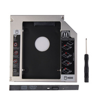 12.7mm Material de Metal de Aluminio Universal segundo HDD Caddy SATA A SATA 2.5