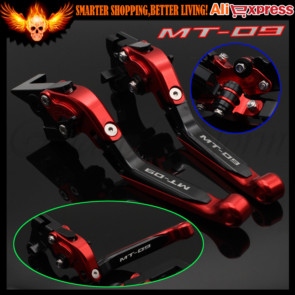 For YAMAHA MT 09 MT-09 Tracer 2014-2015 Motorcycle Adjustable Folding Extendable Brake Clutch Levers FZ-09/MT-09/SR (Not FJ-09) for yamaha mt 09 fz 09 mt 09 tracer 2014 2016 cnc adjustable folding extendable brake clutch levers logo mt 09 blue