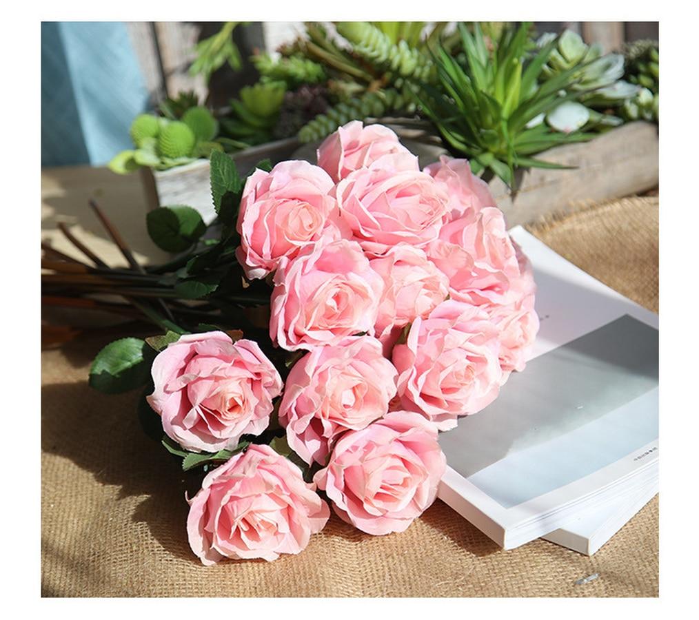 Rose Artificial Flowers Wedding Decoration Romantic Date Party