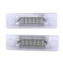 2 шт. светодиодный номерной знак задний фонарь 18-светодиодный для VW Caddy транспортер Passat автомобиль Подсветка регистрационного номера автомобилей Стайлинг