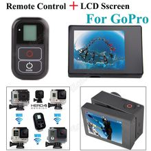 "2 IN 1 For GoPro Accessories Remote Control + 2.0"" LCD BacPac Display Screen For GoPro Hero 4 Hero 3+ Hero3 Camera"