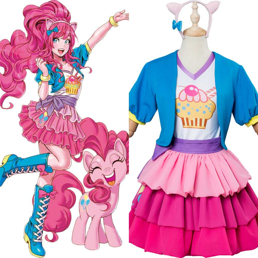 My Little Pony Girls Wigs Fancy Dress MLP Cartoon Childs Costume Accessories New
