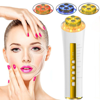 RF&EMS Face Beauty Massager LED Photon Facial Skin Rejuvenation Radio Frequency Face Eyes Lifting and Tighten Machine Face Care