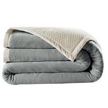 NarwalDate Double-sided Thinken Flannel Throw Weighted Blanket Soft Warm Coral Fleece  High Grade Plush Bed Sofa Sheets