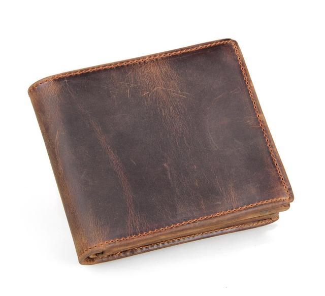 Us 15 93 41 Off Hochwertigen Mannmappen Crazy Horse Leder Vintage Design Großraum Männer Geldbeutel Brieftaschen Visitenkartenhalter In Hochwertigen