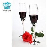 Любовь бокал для шампанского подарок Серебряное сердце бокал
