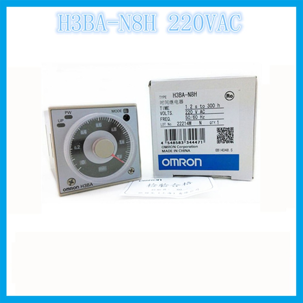 H3BA-N8H AC220V OMRON relay electronic omron timer multifunzione tempo time1.2s to 300h 50/60 hz component time relay genuine taiwan research anv time relay ah2 yb ac220v