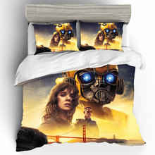 King Size 3D Printing Bedding Set Autobots Bumblebee Bedding Sets Duvet Cover Bed Sheets Pillowcases Bed Linen Home Textile 3d printing king size bedding sets how to train your dragon bedding set duvet cover bed sheet pillowcases bed linen home textile