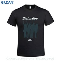 Summer The New Fashion For Short Sleeve Status Quo Hello Men S T Shirts With Designs