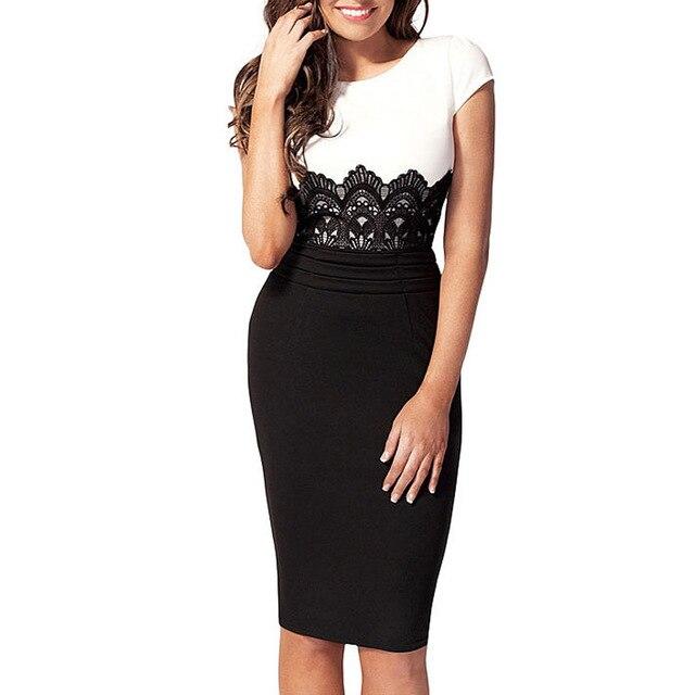 vestidos de playa lace patchwork office ladies business women dress tunique femme christmas dress set women plus s m l xl xxl