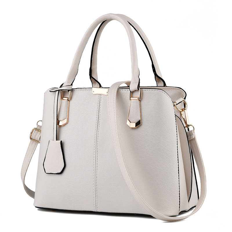 2017 New Bags for Woman Concise Leisure Fashion Elegant Office Ladies Handbags Solid Color Pink Sky