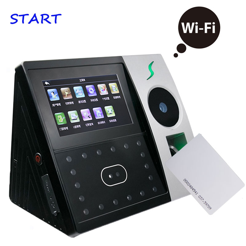 Iface702 Palm Time Attendance Door Access Control System Network 12.56Khz Card For Office Time Clock Fingerprint Punching