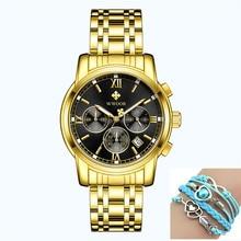 2019 Men Chronograph Business Quartz Watch Multifunction Watches Top Brand Luxury Stainless Steel Sport Wrist Watch Male Clock цена и фото