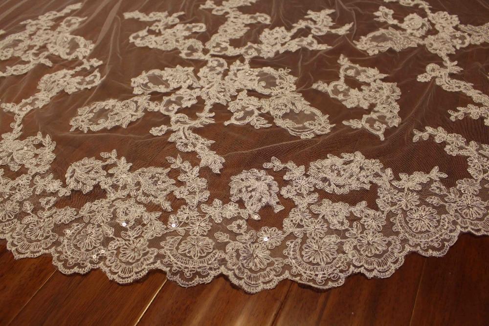 3 метрлік екі қабатты шнурка Tulle Long Bridal - Үйлену керек-жарақтары - фото 2