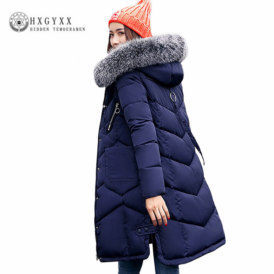 Long Cotton Military Parka Plus Size Fur Fashion Hooded Outwear Winter Jacket Women 2017 New Warm Slim Zipper Quilted Coat O1 купить