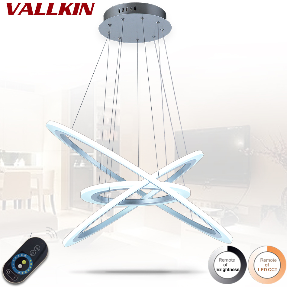 Gyűrűkörök Modern LED függő lámpák étkezőhöz Nappali szoba - Beltéri világítás