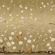 Beibehang пользовательские обои фото КИТАЙСКИЙ HD ручная роспись ручка и птица картина ТВ диван гостиная спальня фрески 3d обои