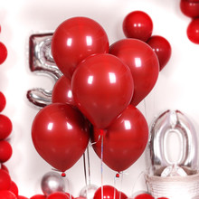 1pcs Ruby Red Color Wedding Birthday Party Balloons Round and Heart Shape Ballon for Kids Babyshower Decorations