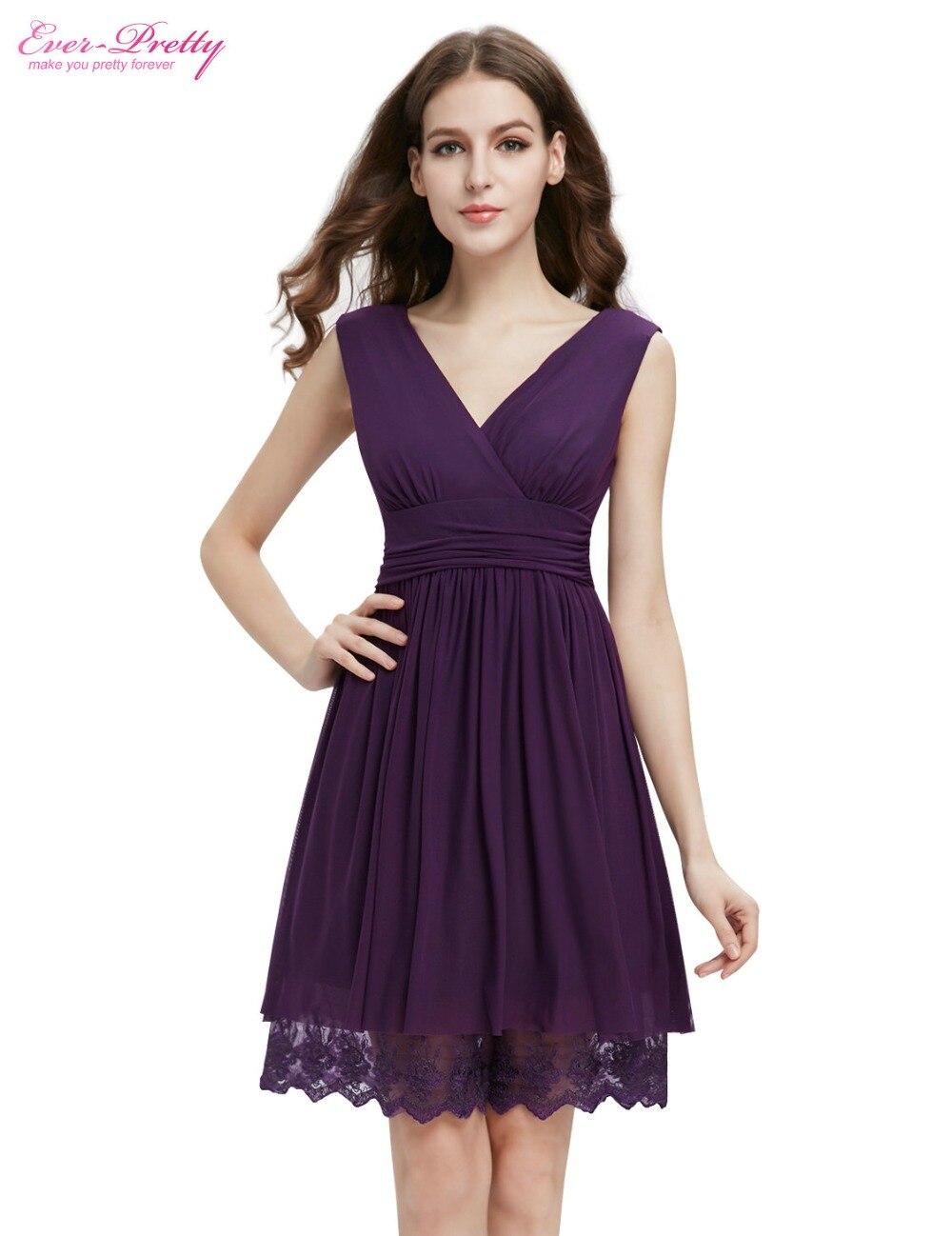 Cocktail Dresses Ever Pretty 00279 2017 Blue Black Purple hort Lace ...