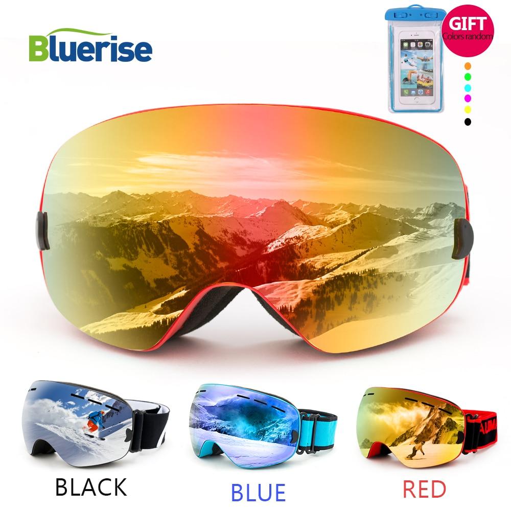 d687413a7e3b Detail Feedback Questions about BLUERISE UV400 Skiing Eyewear Anti Fog Double  Lens Glasses Ski Men Women Snowboard Goggles Snow Ski Goggles In Skiing ...
