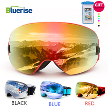 BLUERISE UV400 Skiing Eyewear Anti-Fog Double Lens Glasses Ski Men Women Snowboard Goggles Snow Ski Goggles In Skiing Eyewear все цены