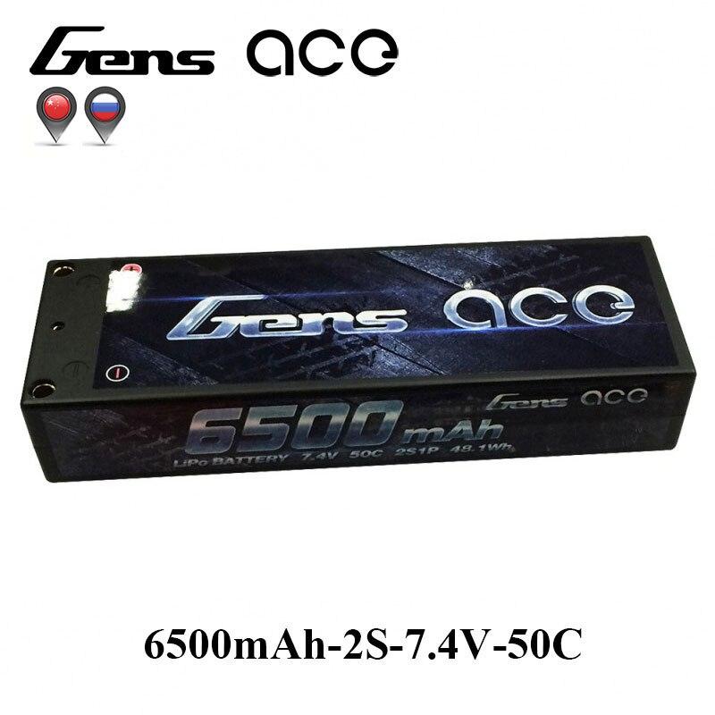 Gens ace Lipo Battery 2S 6500mAh 6800mAh Lipo 7.4V Battery Pack 50C Battery 1/10 Car 1/8 RC Car for Traxxas Slash Emaxx Bandit 1s 2s 3s 4s 5s 6s 7s 8s lipo battery balance connector for rc model battery esc