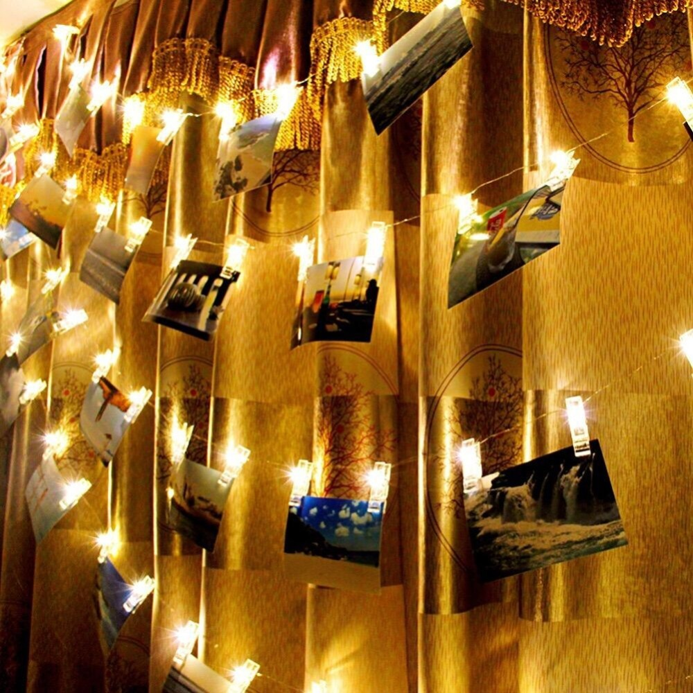 1.5M 10 Leds Mini Clips String Lights Led Battery Christmas Lights New Year Party Wedding Home Decoration Fairy Light