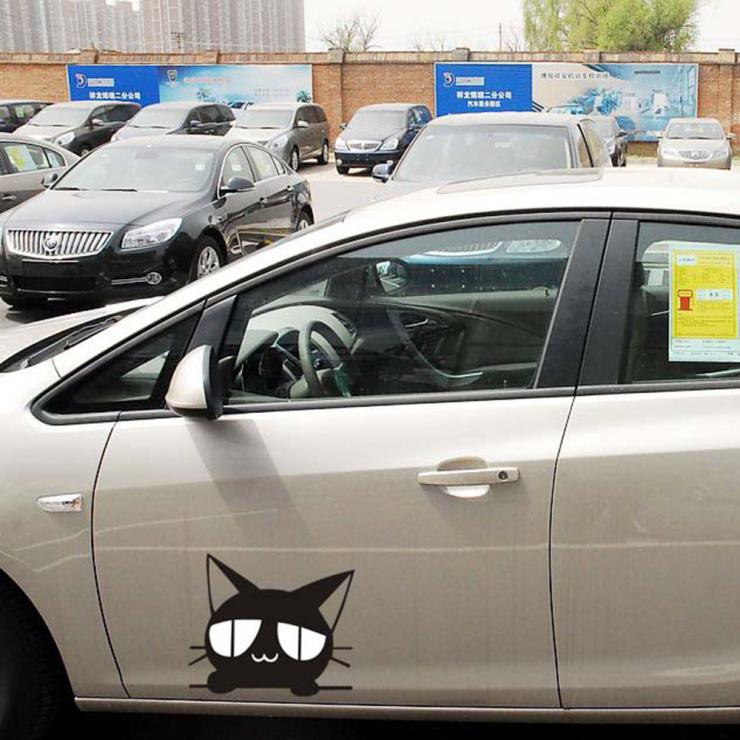 Black Cat car cover whole body car styling Decal for skoda Honda Hyundai Kia skoda Volkswagen Lada skoda cruze