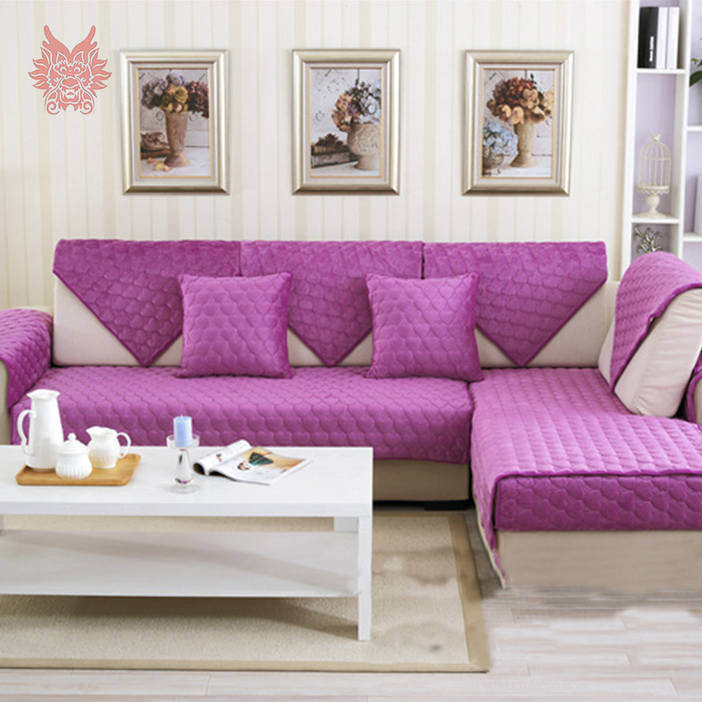 Aliexpress.com : Buy Pink Red Purple Heart Quilted Pluch Sofa Cover DOUBLE  FACED Cama Cover For Living Room Furniture Sectional Couch Covers SP4895  From ...