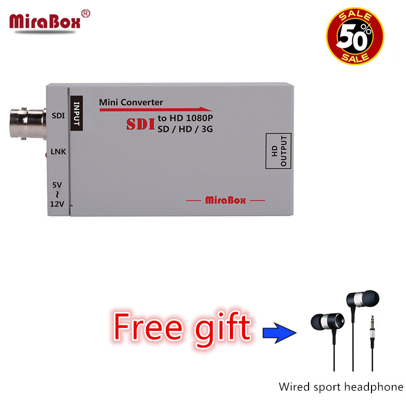 Mirabox SDI to HDMI Adapter SD/HD/3G SDI to HDMI BNC Support Full HD 1080p Mini SDI Signal to HDMI HD Video Converter carprie full hd 1080p hdmi to sdi sd sdi hd sdi 3g video converter spliter drop shipping