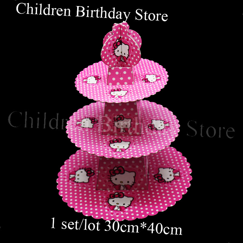 1set Hello Kitty Cake Stand Hello Kitty Theme Birthday Party Decorations Hello Kitty Cupcake Holder Baby Shower Party Supplies Cake Decorating Supplies Aliexpress