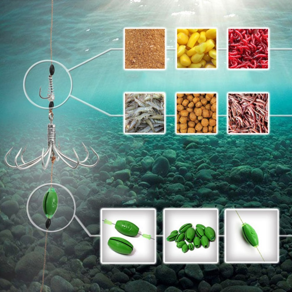 Image 3 - Excellent 8 In 1 Hook With Environmental Plumb Bob Automatic Fishing Hook Portable Full Speed Fish Accessories-in Fishhooks from Sports & Entertainment