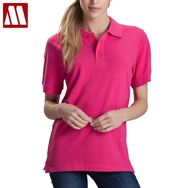 Women Men Unisex Cotton Plain Solid Black Blue Navy Red Polo Shirt Ladies  Short Sleeve No afb1e5f1ca
