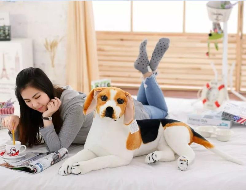 large 80cm prone beagle dog plush toy,high quality goods ,birthday gift Christmas gift h2927 фурминатор для собак короткошерстных пород furminator short hair large dog