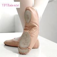 Brand New Leather Ballet Dance Shoes Professional Soft Women Ballet Shoes Split Sole Pink black Wholesale 5305